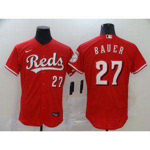 Cincinnati Reds Trevor Bauer Red Jersey